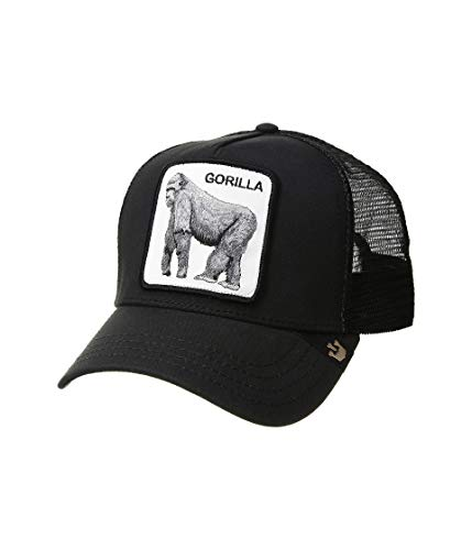 Goorin Brothers Unisex Animal Farm Snap Back Trucker Hat Black King of The Jungle One Size