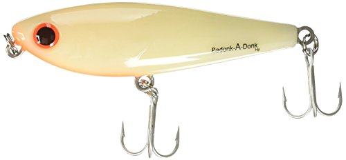 Bomber Lures Badonk-A-Donk High Pitch Saltwater Grade, (3-1/2-Inch) - Bone/Orange - Lures Model Bomber
