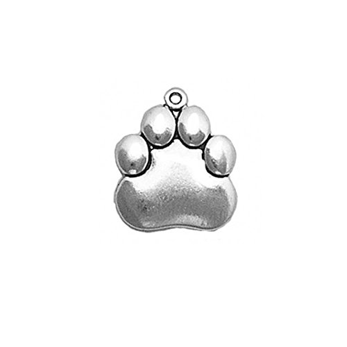 - Sterling Silver Large Paw Print Mascot (Dog, Tiger, Panther) Charm Item #2514