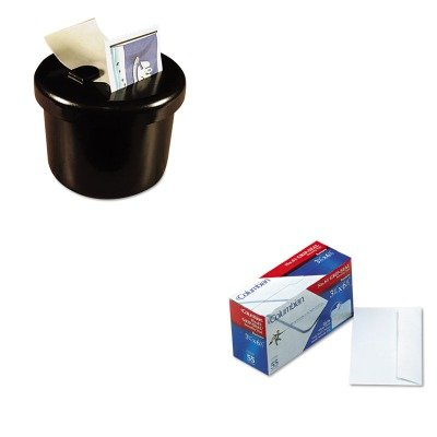 KITLEE40100QUACO140 - Value Kit - Columbian Grip-Seal Security Tint Business Envelopes (QUACO140) and Lee Ultimate Stamp Dispenser (LEE40100) by Columbian Envelopes