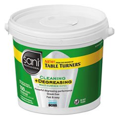 Multi-Surface Cleaning Wipes, 10'' x 11.5'', 100 Wipes/Bucket, 2 Buckets/CT