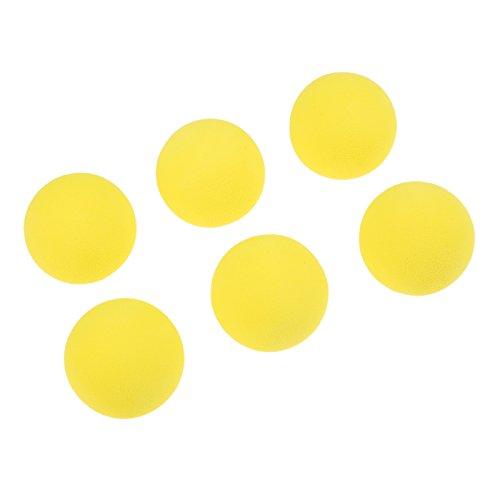 20 pcs Yellow Foam Golf Ball Indoor Exercise Ball Eva Solid Color