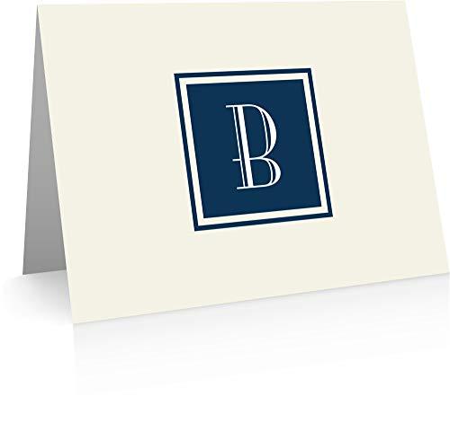 - Monogram Stationery Note Cards - Monogram Thank You Cards (B)