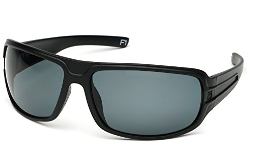 STRIYKER F1 Polycarbonate Polarized Sunglasses -100% UV 400 Protection- TR90 Universal Fit Memory Frame- Ultra Lightweight - Extremely Durable (Matte - F1 Sunglasses