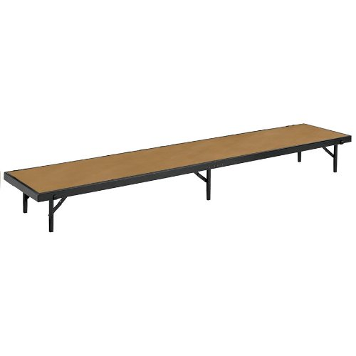 National Public Seating RS16HB Hardboard Straight Portable Riser - 18'' x 96'' x 16'' by National Public Seating