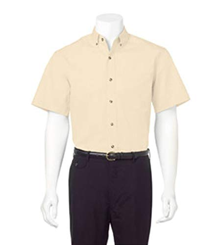 FeatherLite 0281 Short Sleeve Stain-Resistant Twill Shirt Safari Yellow 5XL