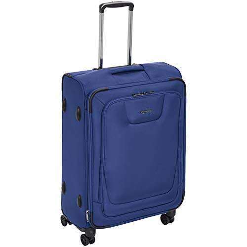 (AmazonBasics Expandable Softside Spinner Luggage Suitcase With TSA Lock And Wheels - 25 Inch, Blue)