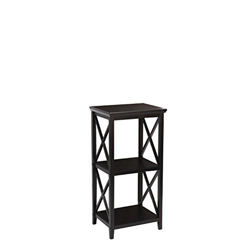 RiverRidge 06-073 X- Frame Collection 3-Shelf Storage Tower, Espresso