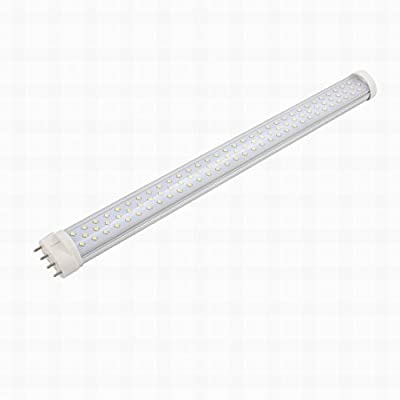 MariaP AC85-265V 18W 2G11 6000K Horizontal 4P Connector LED Light Tube Transparent Cover