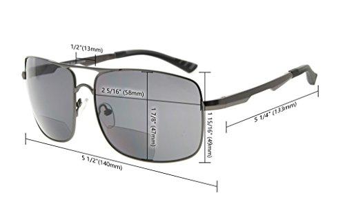 soleil lunettes Polarisees Gris Dore hommes pour de verres soleil Polycarbonate Eyekepper Verre Lunettes Cn0xZZ