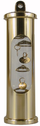 UPC 721002004338, E.S. Sorensen Galileo Glass Liquid Volume Expansion Thermometer (Brass)