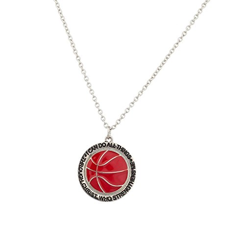 Lux Accessories Basketball Strengthens Necklace product image