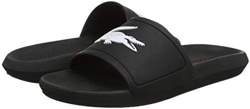 Clothing, Shoes & Accessories Lacoste Men's Croco 119 1 CMA Sliders Black