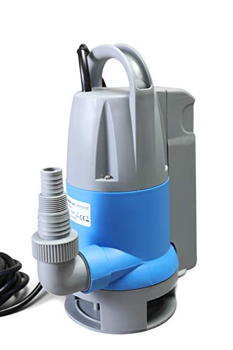 - Submersible Clean/Dirty Water Sump Pump 1hp with built in Automatic ON/OFF (no external float switch needed) 3420GPH, 26'Head, Thermal Protector, Copper Winding - Schraiberpump