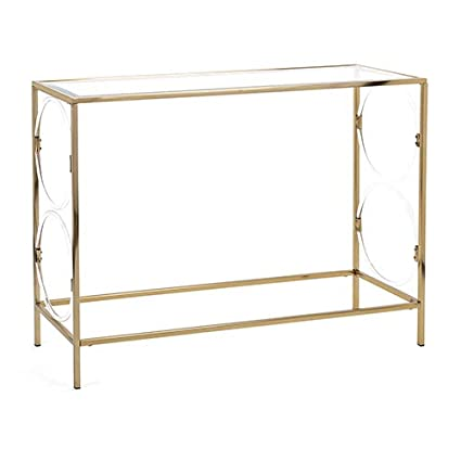 Imax Rouvin Gold Acrylic Glass Console Table