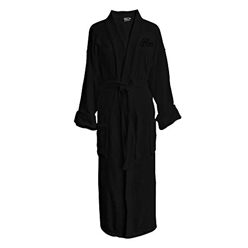 - Luxor Linens - Terry Cloth Bathrobe in a Variety of Colors - 100% Egyptian Cotton - Luxurious, Soft, Plush Durable Robe - Black