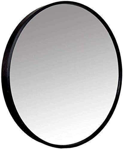 H.yina Wall Mirror Round Decorative Mirror with Aluminum Alloy Frame for Wall, Nautical Home Decor, Large Bathroom Vanity Mirror (Gläser Klar Rahmen)