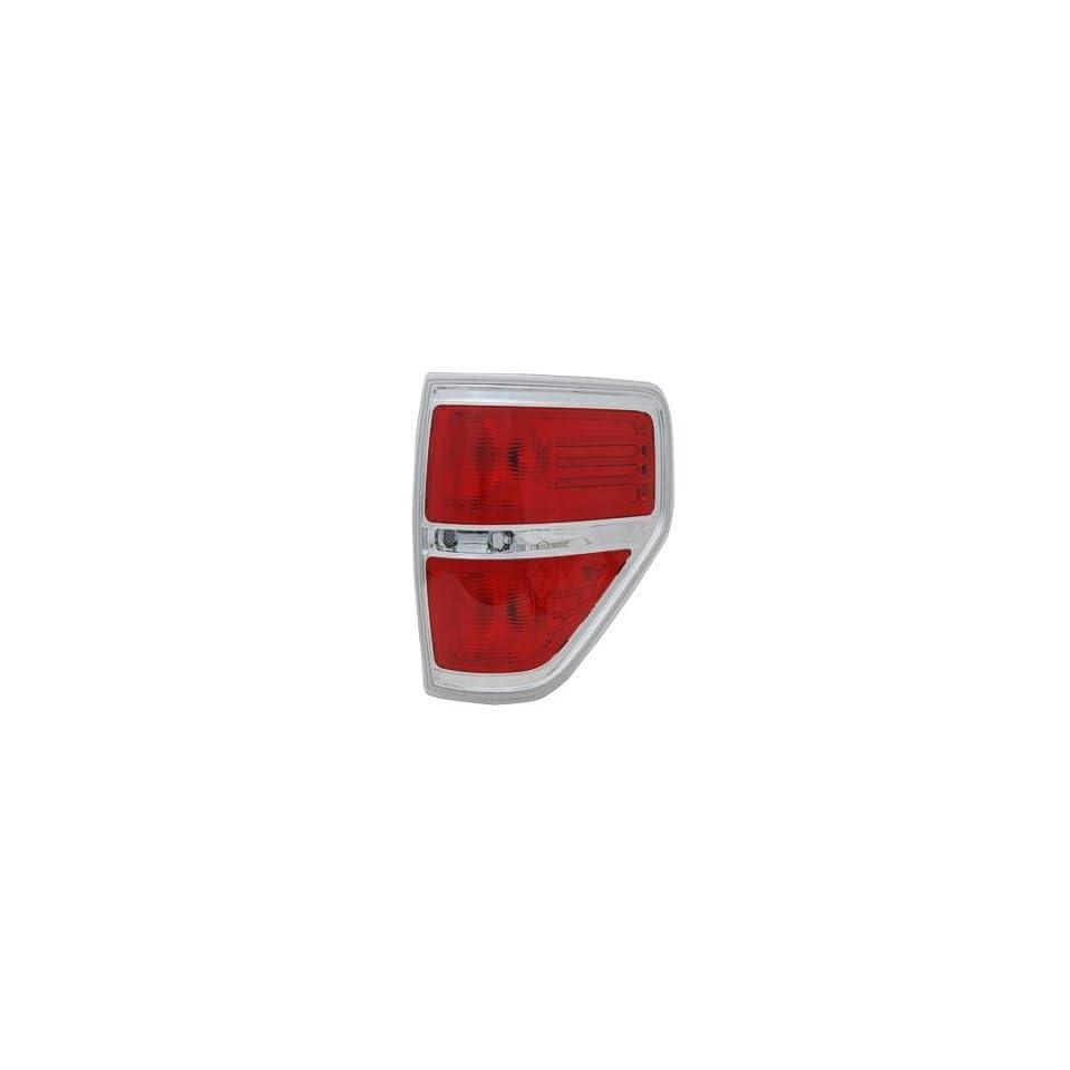 PASSENGER SIDE TAIL LIGHT Ford F 150, Ford F 250, Ford F 350, Ford F 450 LENS AND HOUSING; FOR STYLESIDE MODELS; EXCEPT FX2/HARLEY DAVIDSON MODELS/SVT RAPTOR;