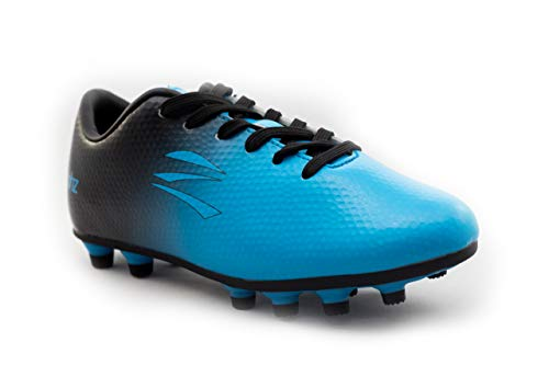 zephz Wide Traxx Cyan/Black Soccer Cleat Youth 3