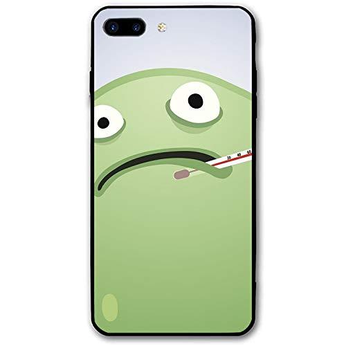 iPhone 8 Plus Case Slim-Fit Anti-Scratch Shock Proof Print PU Case for iPhone 8 Plus(5.5 inch) - Virus with Temperature -