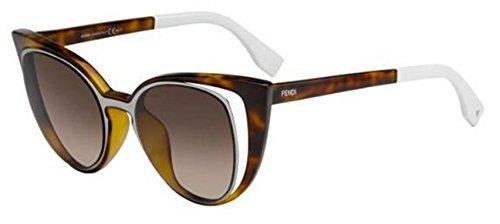 Fendi PARADEYES FF 0136/S NY2/J6 Ruthenium white/brown gradient Sunglasses