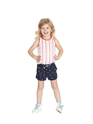 Colored Organics Girls Organic Nika Sport Shorts - Navy/White Heart Print - 2T by Colored Organics (Image #2)