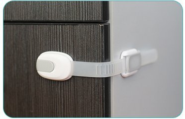 6 Child Proof Closet Safety Locks - Cupboard, Drawer and Toilet Seat Baby Protector - Fast and Simple No Tool Installation - White & Gray 6 PK- By Lilac & Lavender by Lilac & Lavender (Image #3)