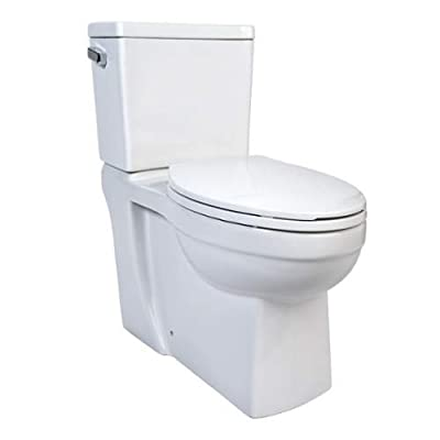 Miseno MNO370C Two-Piece High-Efficiency Elongated ADA Height Toilet with Slow C,