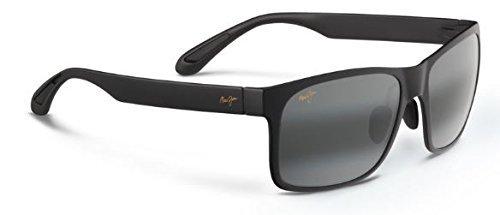 Maui Jim Red Sands Polarized Sunglasses Matte Black / Neutral Grey One Size