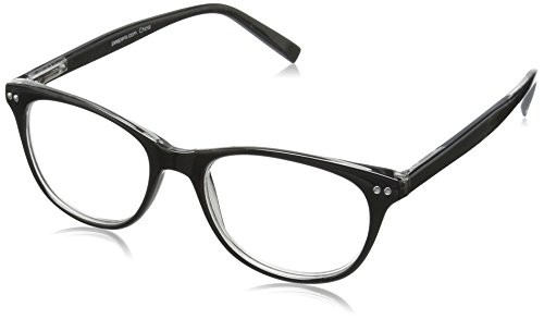 Peepers Finishing Touch 2186125 Cateye Reading Glasses, Black, 1.25