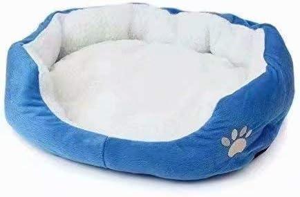Life-Mall Cama para Gatos y Perros tamaño:45 * 35cm,con Forro Redonda u Ovalada Amortiguador Suave Para Pequeña Mascota
