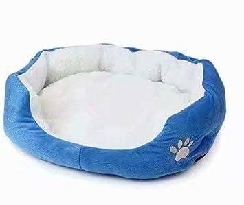 Life-Mall Cama para Gatos y Perros tamañ o:45 * 35cm, con Forro Redonda u Ovalada Amortiguador Suave Para Pequeñ a Mascota con Forro Redonda u Ovalada Amortiguador Suave Para Pequeña Mascota Hommi
