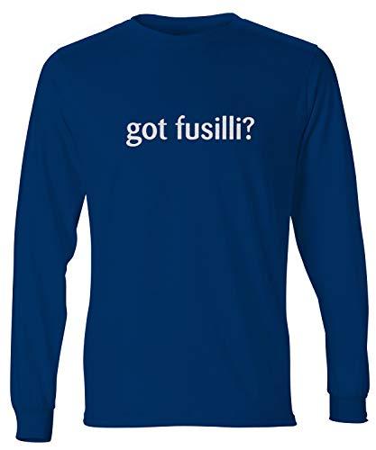 shirtloco Men's Got Fusilli Long Sleeve T-Shirt, Navy Blue Small ()