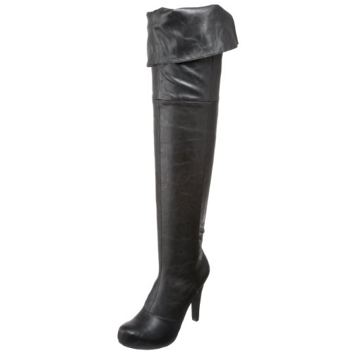Bcbgirls Mujeres Flashy Bota Black Flash Poliuretano