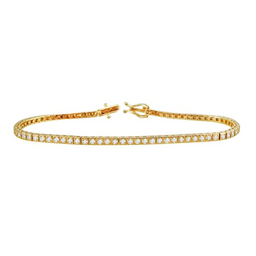 Gold Diamond Tennis Bracelet - 7