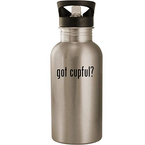 got cupful? - Stainless Steel 20oz Road Ready Water Bottle, Silver (Live Cricket World Cup 2015)
