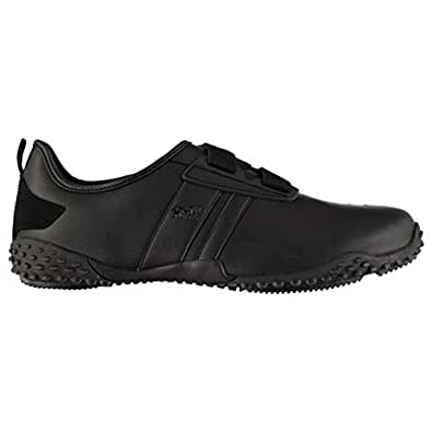 Lonsdale Mens Fulham 2 Trainers Sneakers Low Top Strap Sports Leather Shoes Black UK 7 (41)