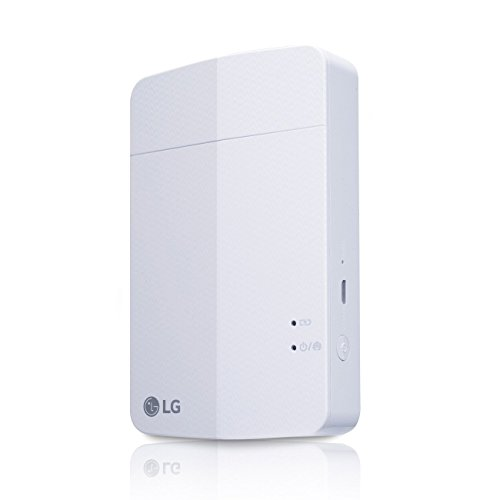New LG PD251 Portable Mobile Pocket Photo Printer 3 [White] (Follow-up model of PD241 and PD239) Bluetooth Wireless Printing for iOS, Android and Windows OS by LG