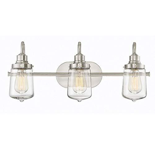 Trade Winds Lighting TW80017BN 3-Light Industrial Retro Vintage Transitional Loft Vanity Bath -