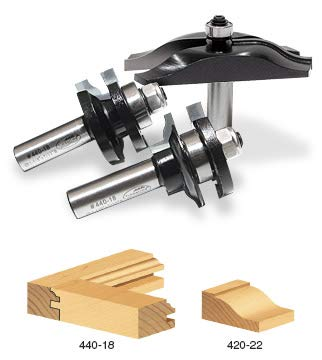 Timberline TRS-260 Ogee Raised Panel Door Making Router Bit Set, 3-Piece