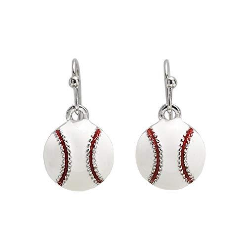 GIMMEDAT Baseball Enamel Dangle Earrings| Lead & Nickel Free | Player or Fan Gift