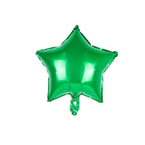18inch Foil Balloons Heart Balloon Star Baloon Happy Birthday Balloon Love Wedding Decorations Party,Star Green (Best Tower Defence 2019)