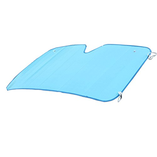 Front Windscreen Cover,Starlit Foldable Sun Shade Cover Frost Cover for Cars (Blue)