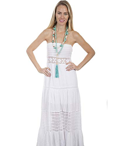 Scully Women's Cantina by White Tube Dress White Medium ()