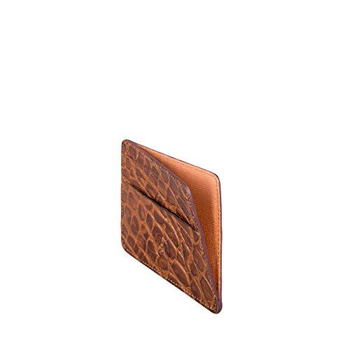 Maxwell Scott Luxury Italian Leather Mens Faux Crocodile Card Holder - Choc by Maxwell Scott Bags (Image #3)