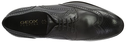 Geox U Hampstead D, Zapatos de Vestir para Hombre Schwarz (BLACKC9997)