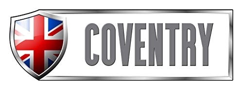 Wall Small Coventry (Makoroni - UNITED KINGDOM COVENTRY Country Nation Sticker Decal Car Laptop Wall Sticker Decal 3'by9' (Small) or 4'by12' (Large))