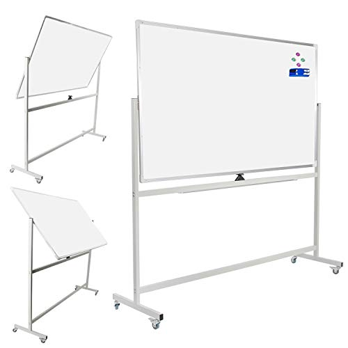 - Double-Sided Mobile Whiteboard Magnetic Dry Erase White Boards on Wheels 72