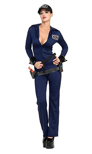 Secret Wishes  Costume Naughty Criminal Investigator Costume, Blue, Small]()
