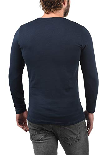 T Manches Blue Encolure Coton Longues Basique Basal shirt Multipack 100 1991 Rond solid Pour Avec À Insignia Homme Xn5aqPx